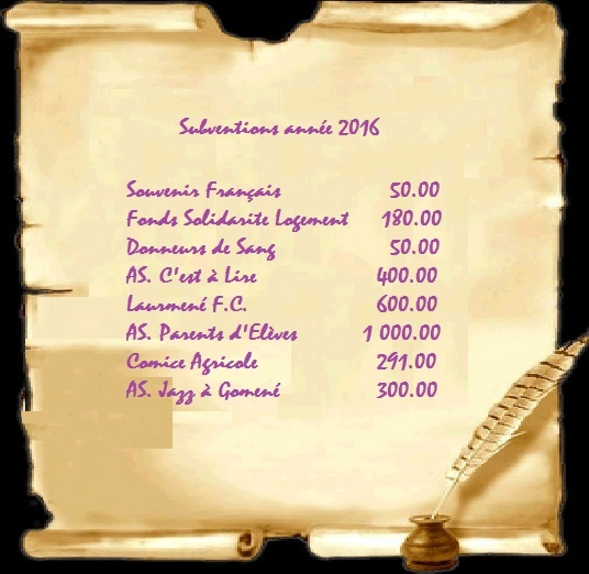 Subventions 20161