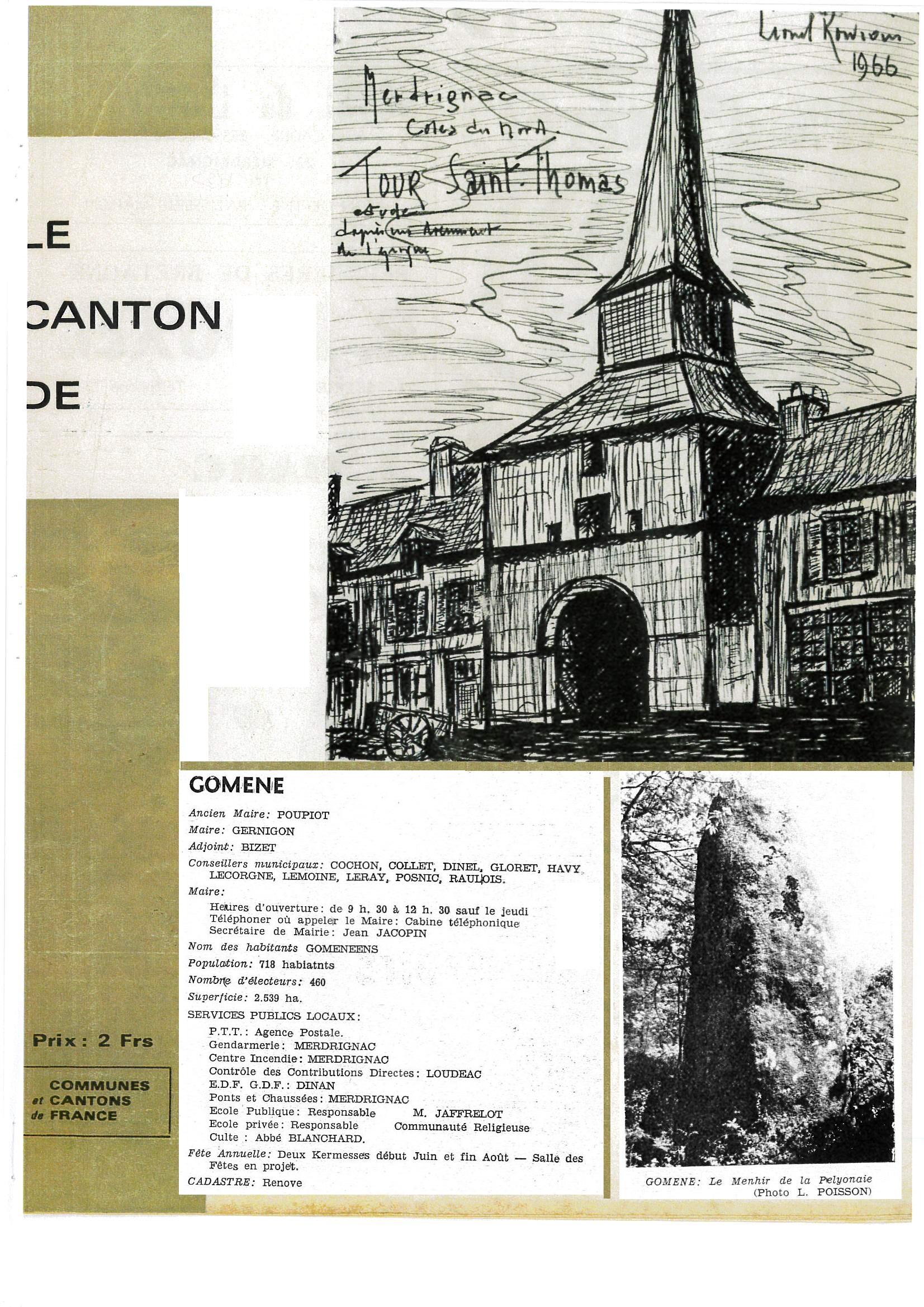 BULLETIN CANTONAL 1966